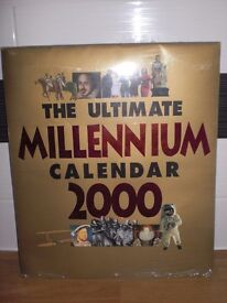 "THE ULTIMATE MILLENNIUM CALENDAR 2000- NEW STILL IN CELLEPHANE PACKING - 14"" x 12"""