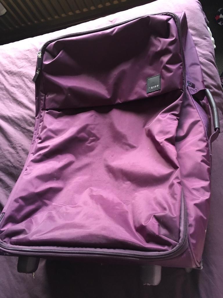 Large purple suitcase | in Bradford, West Yorkshire | Gumtree