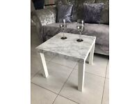 Brand New Marble Effect Table - Available in Various Colours