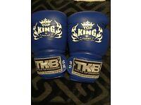 Blue 10lb Top King boxing gloves