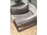Antique pony skin chairs