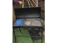 Barrel Barbecue with cover