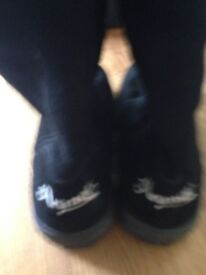Black Suede Animal Boots as new condition