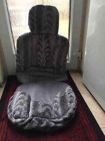 Fur car seat cpver