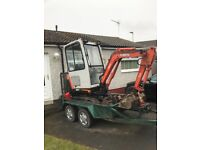 MINI DIGGER HIRE WITH OPERATOR. 35 years experience. We cover the whole of the central belt