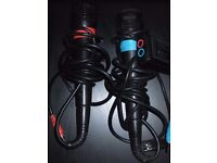 Pair Of Sing Star Wired Microphones PlayStation 2 PS2