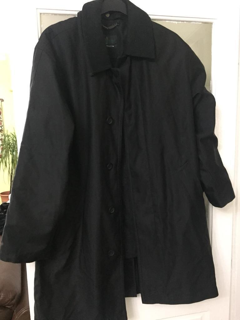Men long coat or jacket size 46 black