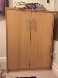 Oak effect cupboard
