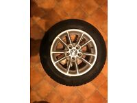 BMW 5 series, E39 rims and winter tyres. Excellent tread and condition.