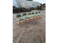 6 x Magnus Olesen Vintage Stylish Office / Dining Room Chairs