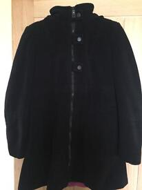 Lovely black lined coat from next size 12
