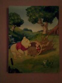 Winnie the pooh and friends wall canvas's