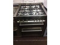 Stainless steel smeg 70cm dual fuel cooker grill & fan assisted ovens with guarantee