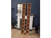 Tall bookshelves.