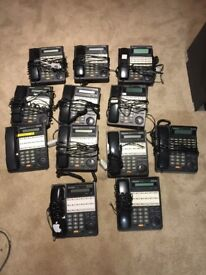 Panasonic office phone system with phones.