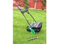 Gardenline 1200w lawn scarifier and rake line new used once!