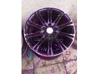 "Bmw Mv2 18"" Alloy Wheel Black Can Post"