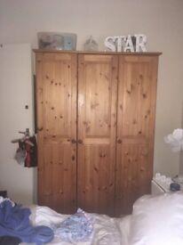 Pine wardrobe