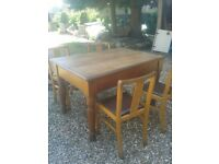 kitchen table and chairs oak top