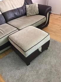Dfs Sofa and foot stool for sale £100 no offers