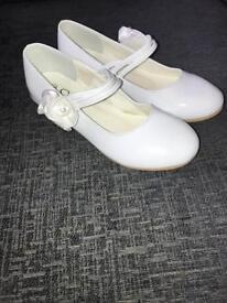 White pvc girls shoes