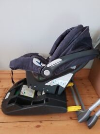 Baby car seat and iso fix base