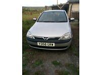 Vauxhall Corsa Comfort 1.0 petrol, 88k miles, 12 month MOT