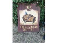 Antique metal pub sign look!!!
