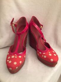 NEW Marc by Marc Jacobs red wedges size 38
