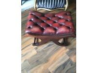Chesterfield footstool and chair