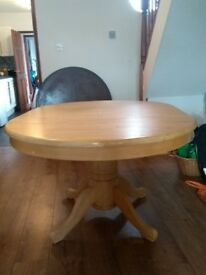 Wood Circular Extending Dining Table
