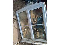 FREE DOUBLE GLAZED UPVC WHITE WINDOW 1m x 1m approx