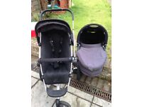 Quinny Buzz Travel System, stroller/ buggy and carrycot