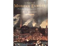 University book for sale. A History of Modern Europe from the Renaissance to the present