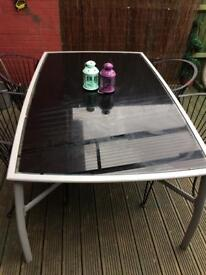 Large garden table and chairs