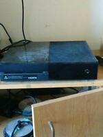 Xbox one with 4 games and all the hook ups