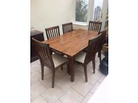Laura Ashley - Garrat Chestnut Extending Dining Table & 6 Garrat Chestnut Dining Chairs