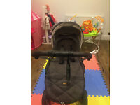 Excellent condition Armadillo Flip XT with Chestnut Tweed fabric and matching carry cot.