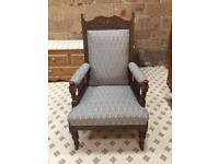 Antique Victorian Fireside Arm Chair