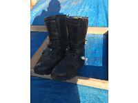 RST Adventurer motorcycle boots UK size 10.5