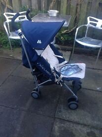 Maclaren Quest Zodiac buggy/stroller with raincover and cosy toes.