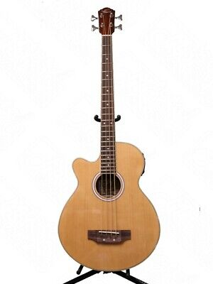 Oscar Schmidt Model OB100NLH Left Handed Acoustic Electric Bass w/Bag