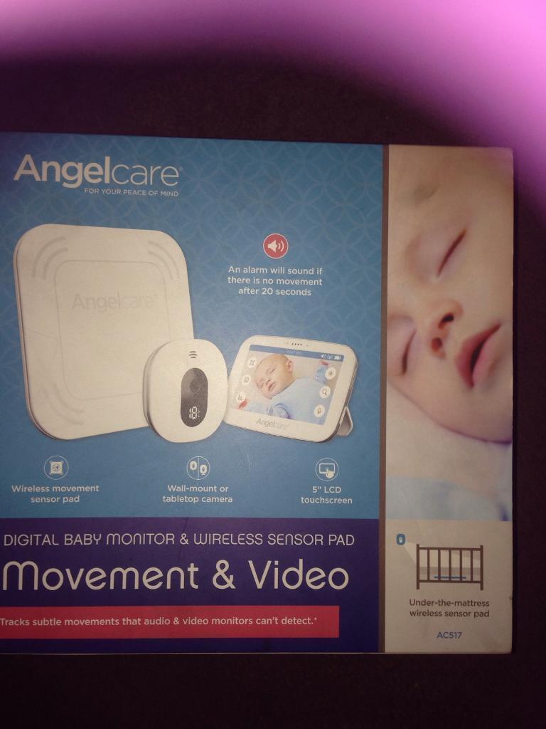 Digital baby monitor & wireless sensor pad