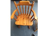 Pine farmhouse/cottage chair with arms