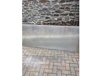 5 Clear polycarbonate sheets, £20