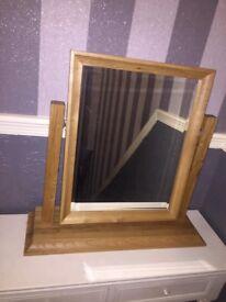 John Lewis Solid Oak Mirror
