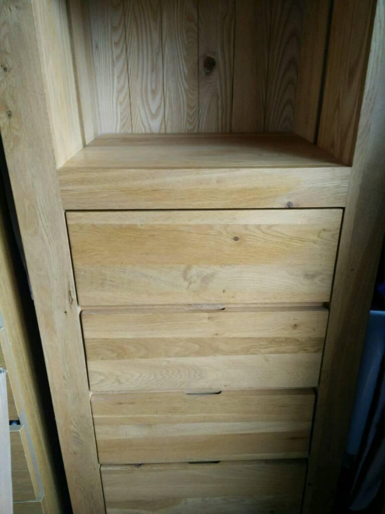 Oak tallboy solid wood bookcase