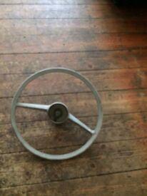 Steering wheel consol