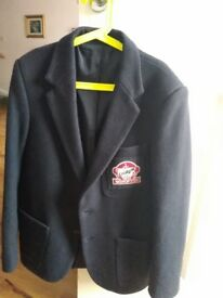 Boys Beau Brummel Navy Wool School Blazer