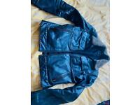 Real leather men's next jacket